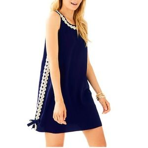 LILLY PULITZER Stella Shift Blue Gold Accent 8